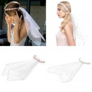 White Bride Veil Elastic Force Party Hair Band Mujeres Imitación Crystal Set en Drill Headwear Vender bien con diferentes estilos 12 5jq J1