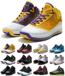 2020 Mais recente LeBrons 7 VII Lakers Varsity Red tênis de basquete frescas criados Rei Equalit Lightyear Lebron sapatilha 7s Sports Trainers tamanho 40-46