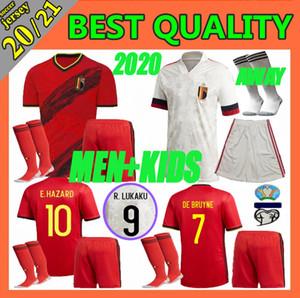 2019 2020 European Cup Belgien Fußball-Trikot Kinder nach Hause erwachsenen Nationalmannschaft E.HAZARD maillot de foot Lukaku DE BRUYNE Fußball-Kit