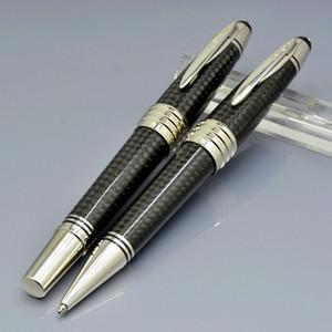 Топ Высокое качество Джон Ф. Кеннеди Черное Углеродное волокно Шариковая ручка-роллер Шариковая ручка с роскошным JFK Carving Mark Monte Branding Серийный номер