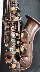 YANAGISAWA S-991 Soprano Small Curved Neck Saxophone Brass Body Antique Copper High Quality Students Musical Instruments with Mouthpiece