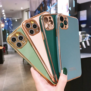 For iPhone 11 Pro Max Plating 6D Soft Phone Case Shockproof Protective Case For iPhone SE 2020 8 7 6 Plus Precise Hole Position Case