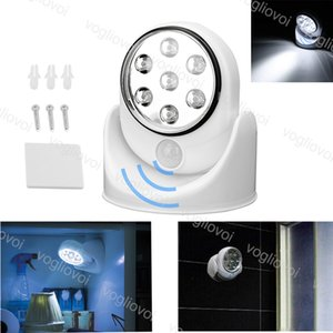 Wall Light Spotlight sicurezza LED Light 7 LED del sensore di movimento Notte intemperie Wireless Security ABS bianco freddo bianco 360 gradi DHL