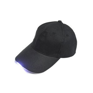LED Flashlight Fishing Hat Sport Baseball Caps Night Walking Cycling Hiking Hunting Hats 3 Colors