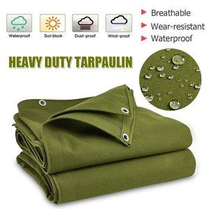 كبير في الجيش الثقيلة الأخضر قماش قماش القنب القماش المشمع مظلة الشمس محظور ماء مأوى الغبار في الهواء الطلق اكسسوارات المظلة