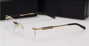 Freies verschiffen marke glas Optische rahmen Männer Marke 2016 randlose brillen rahmen MB349 designer punkte männer fit lesebrille