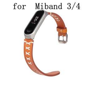 Fashion Watch Band avec étui pour Xiaomi Mi Band 3 4 Bracelet de montre sport en cuir pour MiBand 4 3 bracelet accessoires Bracelet