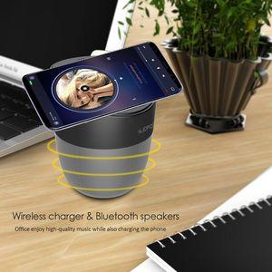 Cargador inalámbrico Altavoz Bluetooth para teléfono móvil Reproductor de audio 2500MAH Soporte USB Pequeños altavoces Pequeños Pequeños Portífagos