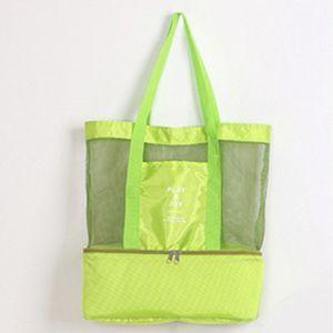 новый портативный Открытый Double Deck теплоизолирующего Lunch Box Tote Cooler Bag Bento Чехол для путешествий для хранения сумки T2D5068