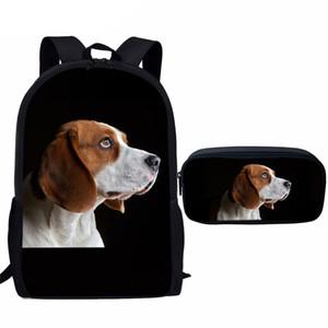 Kalem Kutusu Seti İlköğretim okul çantası ile NOISYDESIGNS Çocuk Bebeğin Çantaları Beagle Köpek Okul Çantası Seti Erkek Çocuk Kitabı Çanta