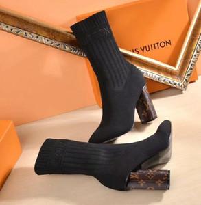 Yeni Moda erkek ve kadın yüksek topuk çizmeler Rahat Yüksek kaliteli Çorap ayakkabı Kadın seksi Şövalye botlar TSA4544