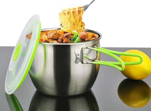 free shipping High-grade stainless steel 304 instant noodle bowl