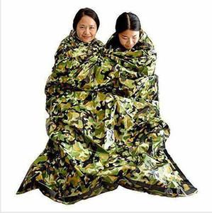 Uyku Tulumu Kamuflaj Survival Acil Sıcak Su geçirmez Mylar İlkyardım Acil Battaniye Sıcak Açık Kamp Uyku Tulumu DYP439 tutun