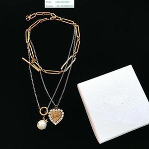 Nuevo y amor colgante de cristal barato aleación collar suéter medallón plata moda joyería