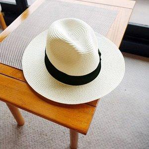 Panama Hat Summer Sun Hats for Women Man Beach Straw Hat for Men UV Protection Cap chapeau femme 2020