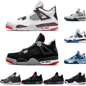 CALIENTE 2019 Nueva Bred 4 4s IV lo que el Cactus Jack láser va volando los zapatos de baloncesto del Mens Denim azul pálido Eminem Citron zapatillas deportivas de los hombres