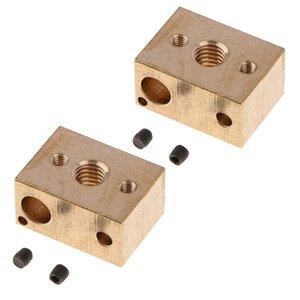 Laiton chauffe-bloc de cuivre Hotend haute température V6 pour Accessoires Buses Extrudeuse imprimante 3D [2PCS]