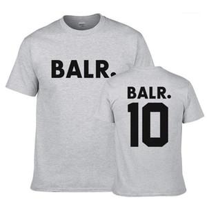 Moda traspirante adolescenti Tees BALR Designer Mens magliette di estate O del collo manica corta Stampa Top Mens