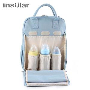 Wasserdichte Wickeltasche Rucksack Nylon großer Kapazitäts Hanging Stroller Organisator für Baby-Mom Dad Maternity Tole Bag