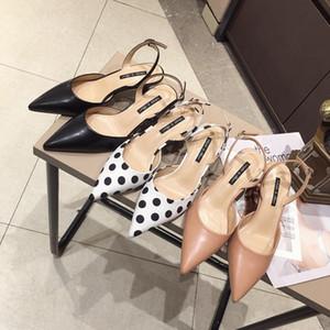 Горячая распродажа-2019 Рекомендовать журналу Back Air Single Shoe Женщина с мелким ртом Sharp Fine с туфлями на высоком каблуке Wave Point Темперамент Джокер