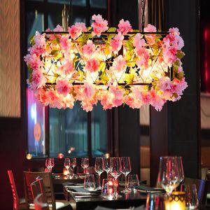 Işık Barbekü Hot Pot Dükkanı Yaratıcı Sanat kolye lambalar Asma Müzik Restaurant Bar Dekorasyon Bitki kolye Işık Fikstür Çiçek Shop Cafe