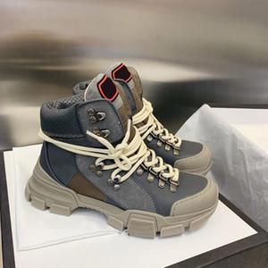 20 New Luxury FlashTrek alta-top Unisex Mens Ankle Sapatinho Caminhadas Militar Bota Mulheres plataforma Designer Calçados Martin botas Sneakers
