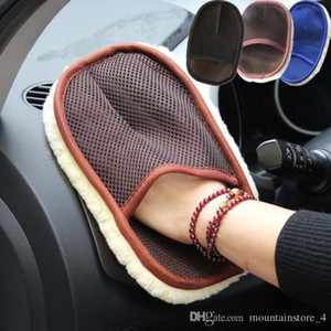 Newly Car Styling Wool Soft Car Lavaggio Guanti di pulizia spazzola per moto rondella prodotti per la cura (al dettaglio)