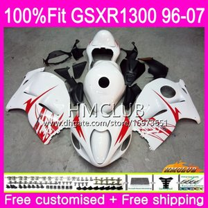 Injection For SUZUKI Hayabusa GSXR1300 GSXR 1300 96 97 98 99 00 01 07 22HM.6 Top White Black GSX R1300 1996 1997 1998 1999 2000 2001 Fairing