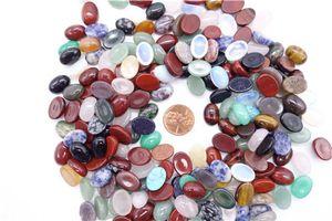 50 unids / lote Al Por Mayor 10 * 14mm Surtido de Piedra Natural Mezclado Oval CABÓN CABOCHON Granos de la Lágrima de Piedra para La Joyería Que Hace El Envío libre