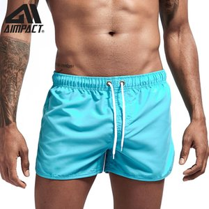Aimpact New Beach Short de bain Holiday Surf Shorts Sport Workout MUSCULAIRE jogging Court Trunks Homme Boardshorts AM2165
