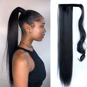 Ponaille de cheval de cheveux humains doux Head Heart Clip dans les extensions de cheveux Pony queue 22inch 140g Real Remy Remy Morceaux de cheveux droite Plus de 4 couleurs en option