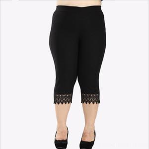 10XL Artı Szie Kadınlar CalfLength 2020 Yeni Yaz Orta Çağ Kadın Kroşe Dantel Kadın Pantolon Capris Kadın Giyim Patchwork Siyah Penci