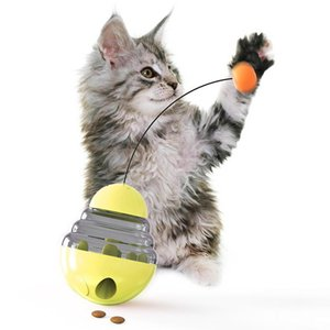 2020 핫 새로운 애완 동물 고양이 텀블러 누설 식품 볼 동물 극 교육 운동 장난감 안티 우울증 고양이 재미 장난감