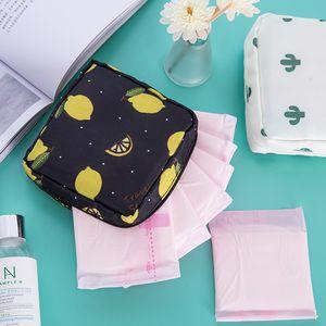 Cute Sanitary Pad Bag Napkin Towel Storage Bag Credit Card Holder Coin Purse Cosmetics Organizer Headphone Case Sanitary Pouch