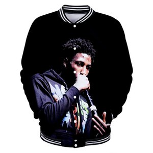 Blueface Rap Singer 3D Style Casual Slim Baseball Jacket Fashion Long-Jacket Jacket 2019 NEW Trend Street Baseball uniform