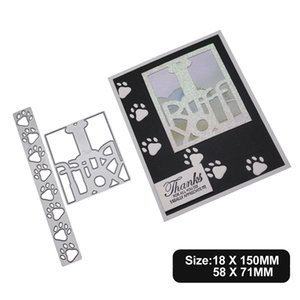 Dog Paw Cutting Dies Metal Stencil DIY Scrapbook Album Paper Card Die Cut Decor Art Animal