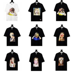Acme De La Vie ADLV progettista di marca superiori di Uomini T-shirt di moda della stampa manica corta Tees