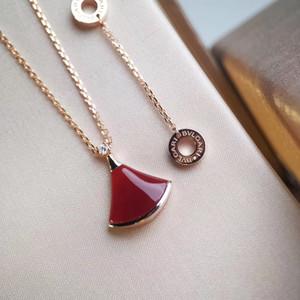Collar de las mujeres del diseñador de moda romántica citas collar Ventilador WSJ029 temperamento simples accesorios de alta gama