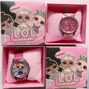 Lot gros LOL Surprise enfants Montre-bracelet pour enfants Cartoon Montres avec des cadeaux Boîtes S02