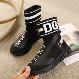 حار 2020 أعلى جودة سرعة المدرب Luxuy المصمم حذاء رياضة رجل إمرأة أسود الأحمر موضة أحذية عادية الجوارب والأحذية أحذية رياضية رخيصة 35-45 X36