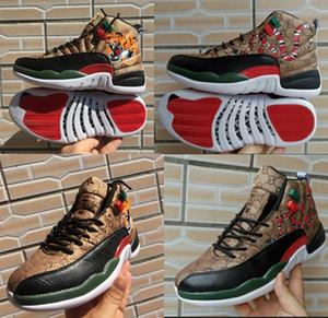 12 GS Geração de serpente tigre preto Brown Red Mens tênis de basquete New 12s Homens Snakeskin Multicolor Esporte Designer Sneakers Chaussures