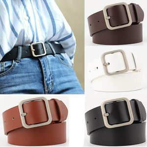 Mujeres Vogue PU Pretinas hembra hermoso cinturón de cintura Vaquera occidental de la pretina de doble hebilla de metal Cinturones Casual