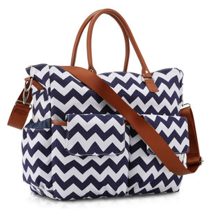 HBP Mummy Bag Shatter-resistentist Handbag PACCHETTO PACCHETTO PACCHETTO MANNALE E BAMBINO CANVAS MULTI-FUNCTION BAG-Capacity Mox Wave Pattern Out Light