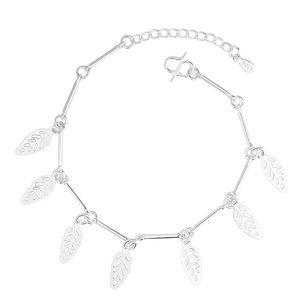 9 Designs 925 Sterlingsilber-Armbänder für Frauen-Mädchen-Mode-Charme-Armband-Kreuz Schmetterling-Stern-Herz Bell Ball Blatt-Korn-Ketten-Schmucksachen