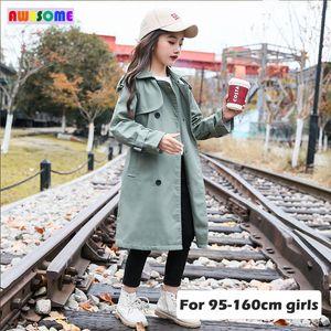 Bambini Boutique Abbigliamento 2020 primavera British Style Trench per Teen Jacket ragazze lungo antivento cotone Cappotti 3-15 anni