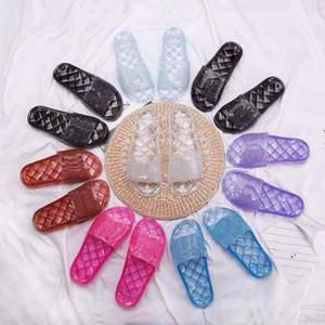 мода мужчина женские сандалии Дизайнерская обувь богемский алмаз тапочки Женщина Flats Вьетнамки обувь Летние пляжные сандалии shoe013 CH02