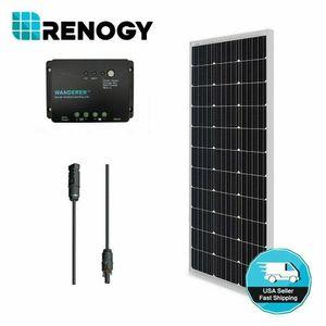 Renogy 100 Вт Ватт моно панели солнечных батарей набор Набор W/ 30 амперный ШИМ контроллер заряда