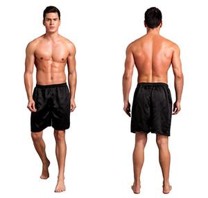 Mens Beach Shorts Solid seta del pugile di stile casuale di estate Relaxed Large Size comodo da indossare Pour Hommes