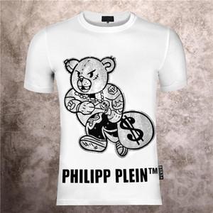 Philip Plain marca Mens progettista delle magliette di lusso della maglietta Firmata Uomo Moda estate Homme Mens Skull maglietta Tee Top 539