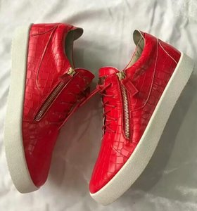 Giuseppe Zanotti GZ 2019 Designer Hommes Sneakers coupe Spikes chaussures Flats Bas rouge pour les hommes femmes en cuir Sneakers Party chaussures Designer 01 xshfbcl